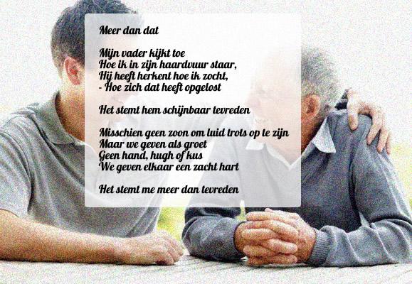 Welp Mijn vader (gedicht) en ik geven elkaar een zacht hart - Zacht Hart.nl SV-28